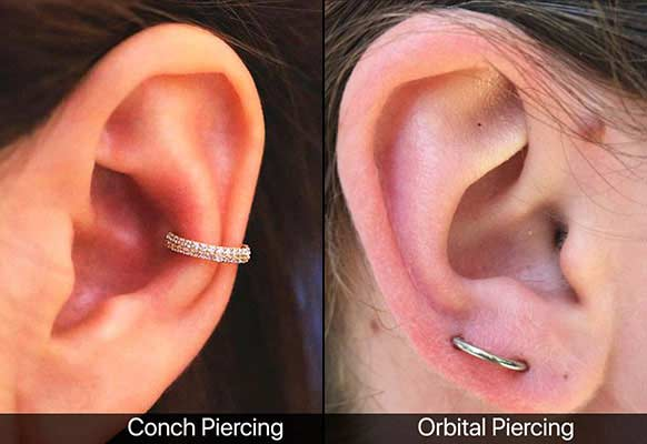 11 Unique and fine-looking Ear Piercing Ideas | Suitable