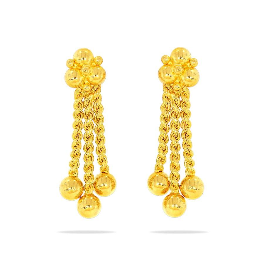 earring design in gold