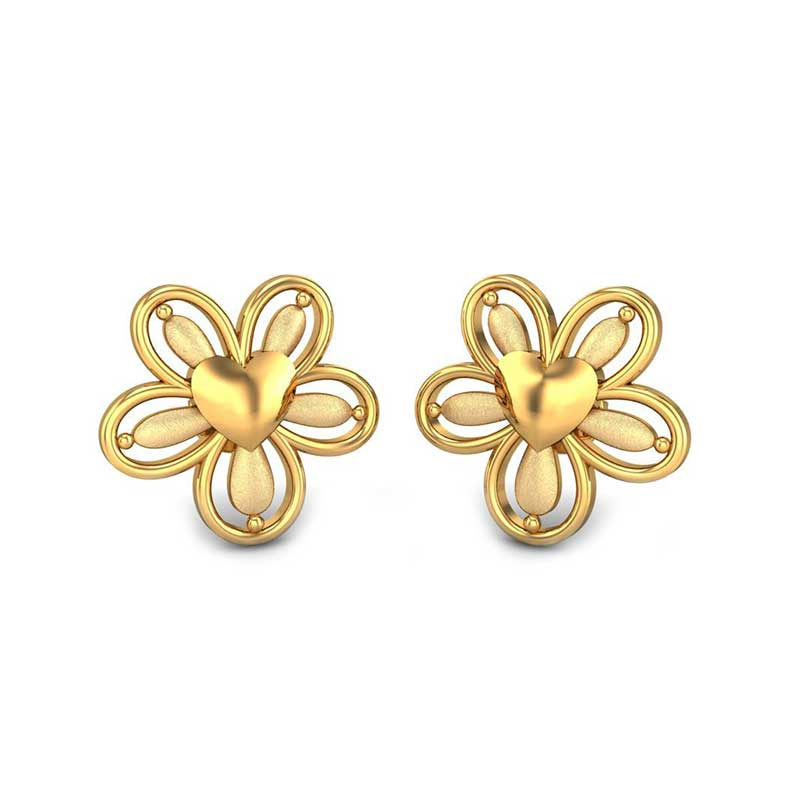 gold earrings design