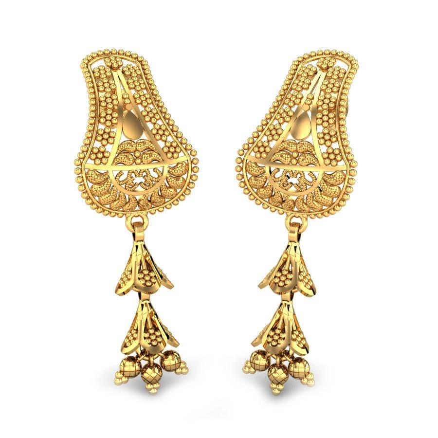 BIG GOLD EARRINGS FOR WEDDING