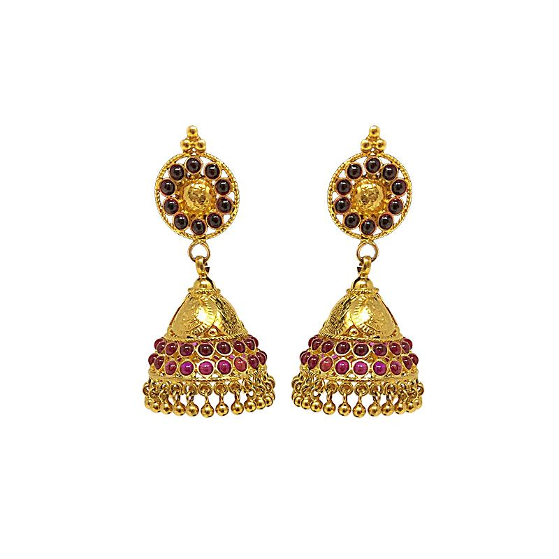 Traditional Jhumka Earrings In Gold Designs