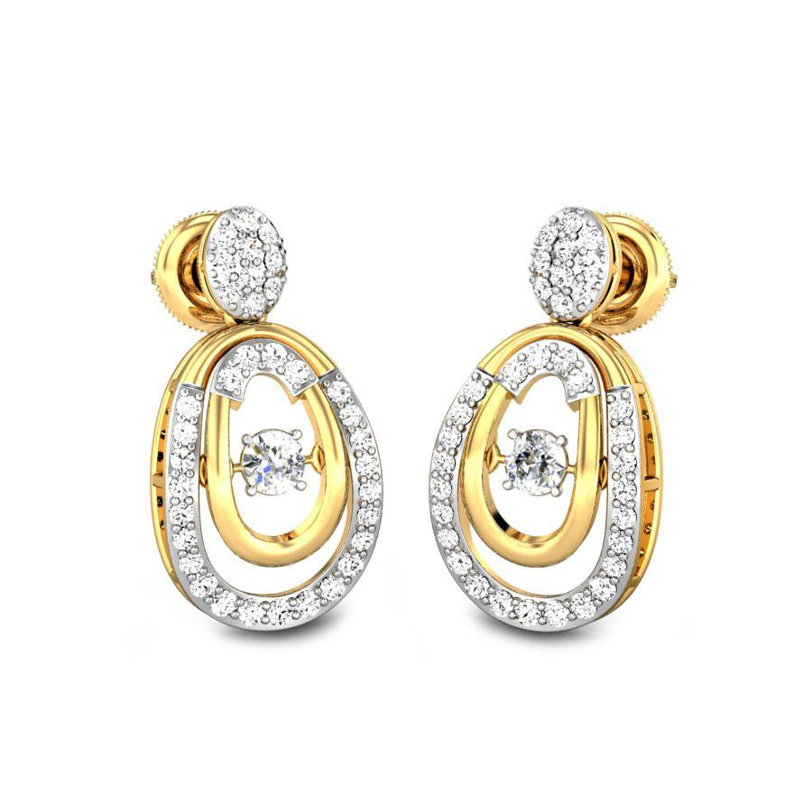 Diamond drops earrings