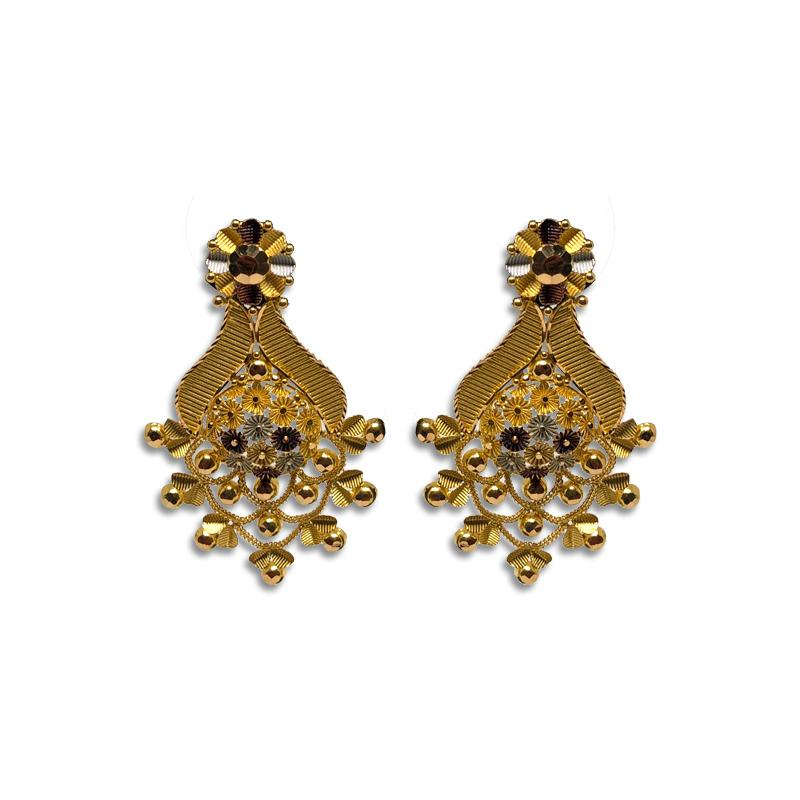Gold Earrings Tops Designs For Women