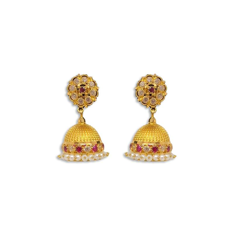 STONE JHUMKAS EARRINGS
