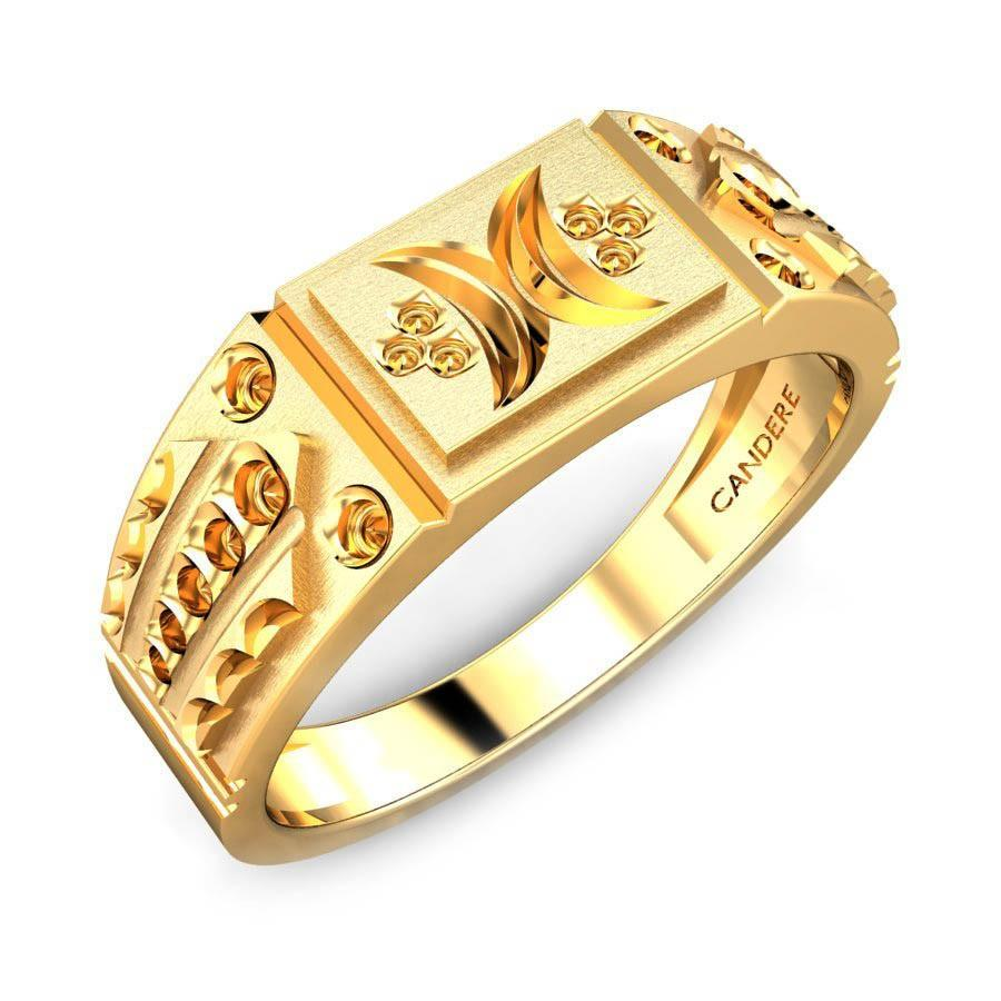 gold men rings