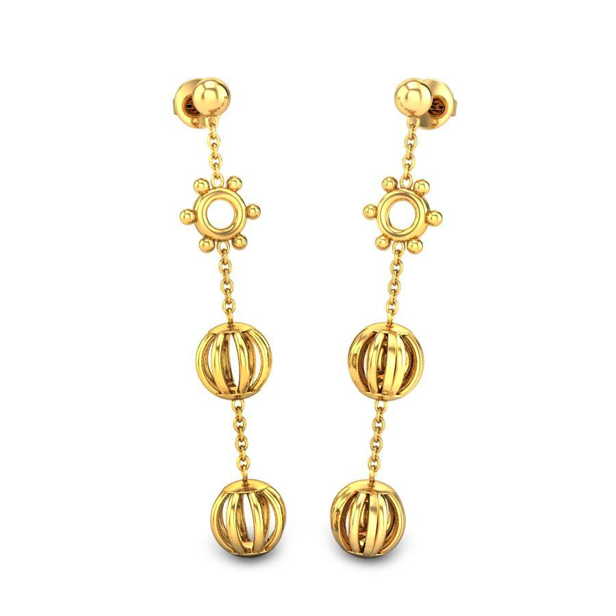 gold long earrings designs