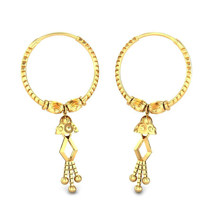 gold daily wear earrings