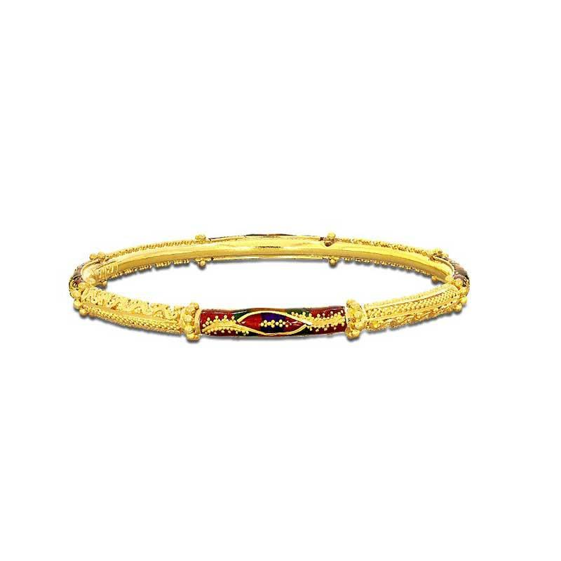 gold kada design for woman