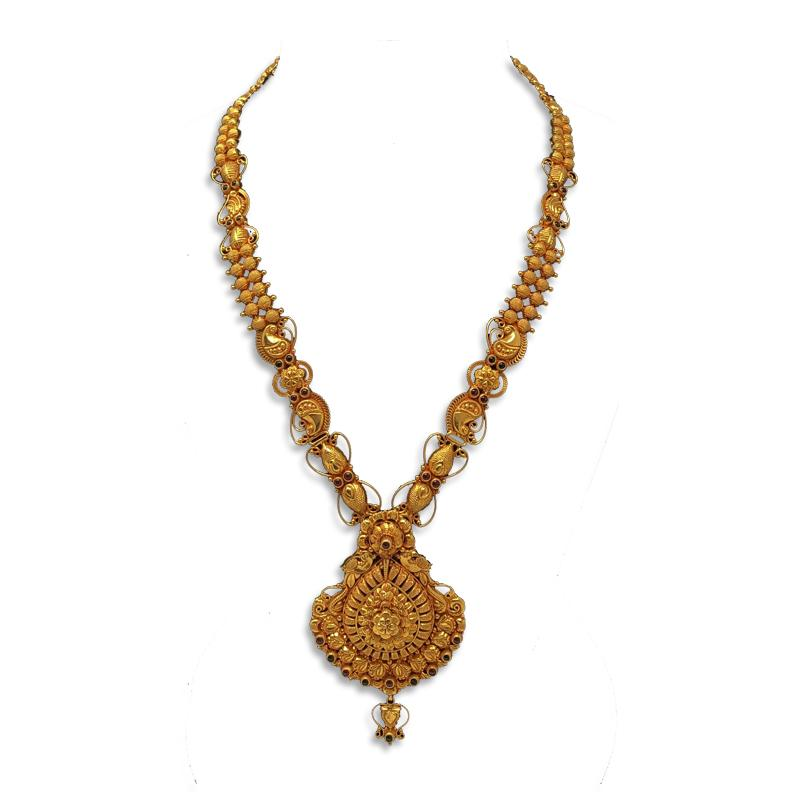 Gold Necklace Designs In 35 Grams