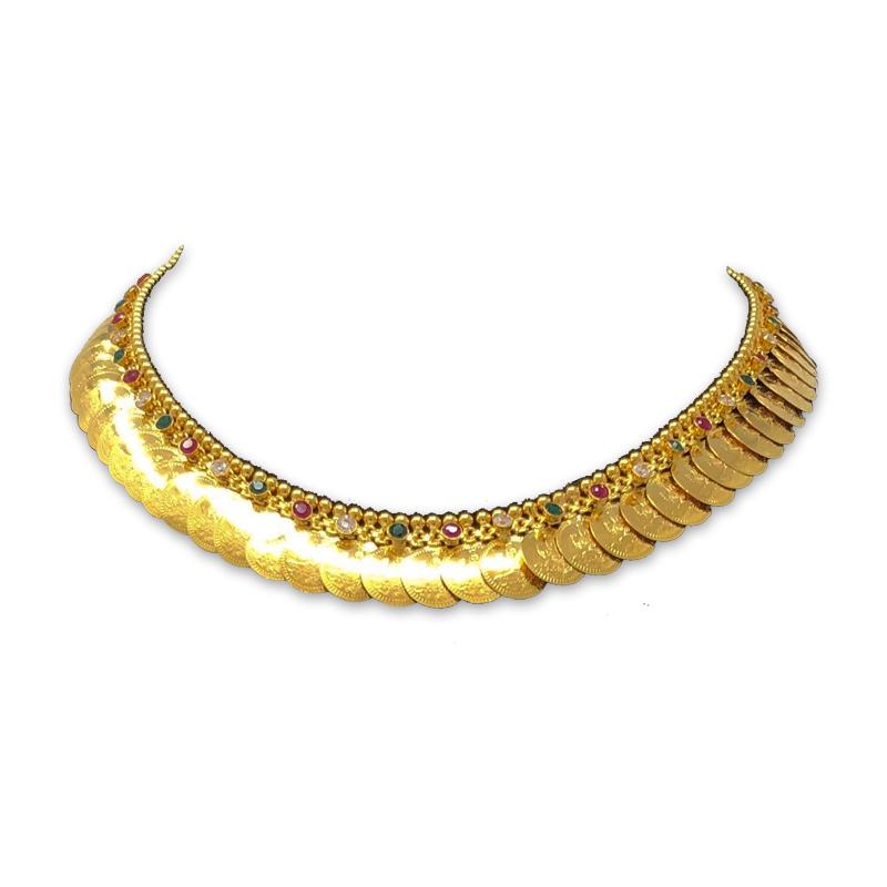 GOLD HARAM DESIGNS IN 40 GRAMS NECKLACE