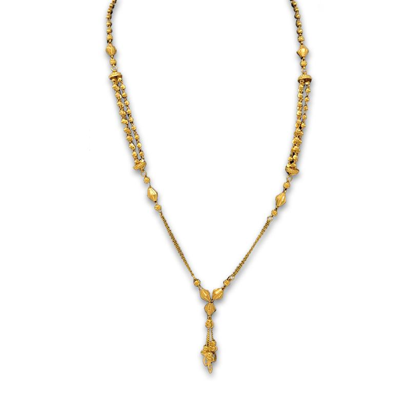 Light Weight Gold Necklace Set with Price