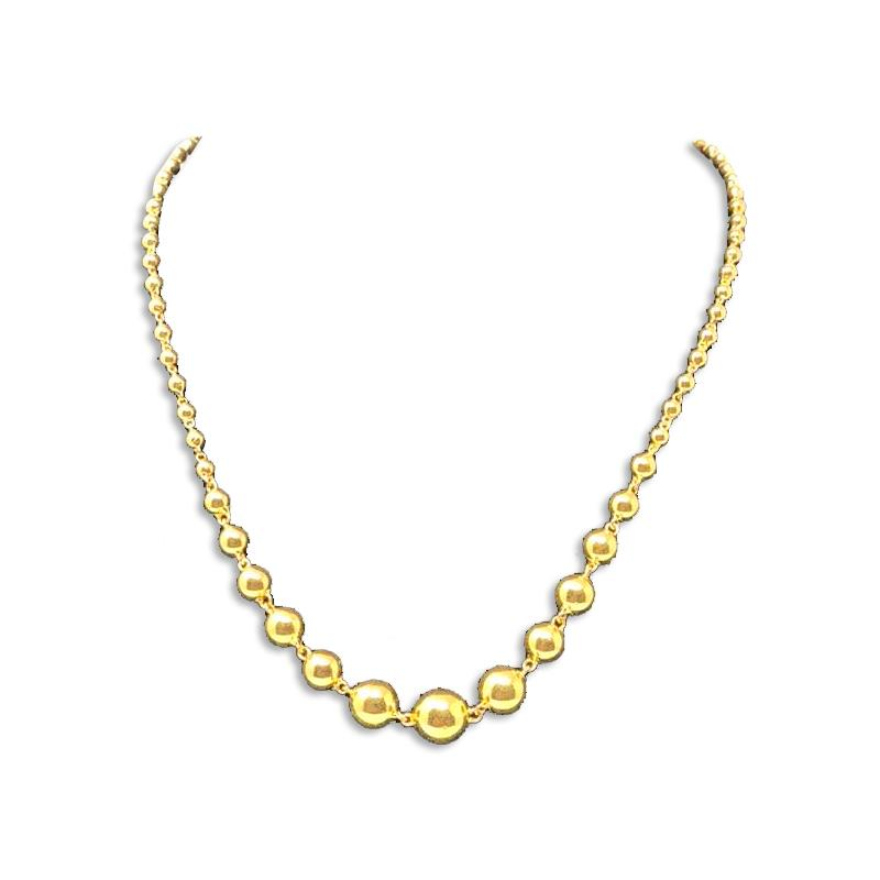 GOLD GUNDU DESIGNS NECKLACE