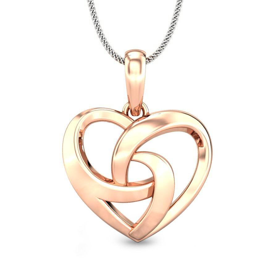 heart shaped gold pendant designs