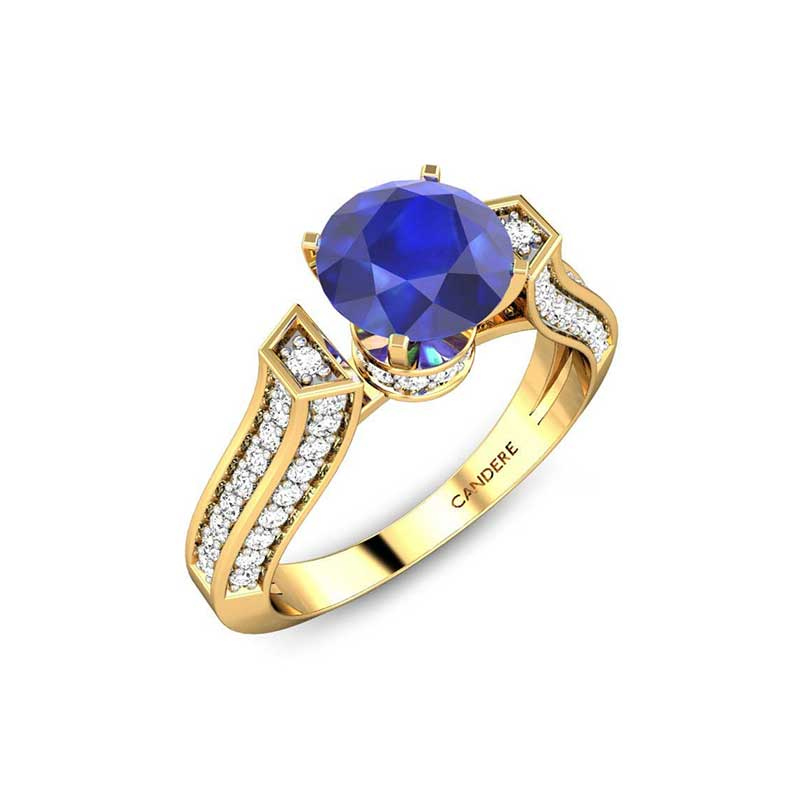 neelam stone ring design
