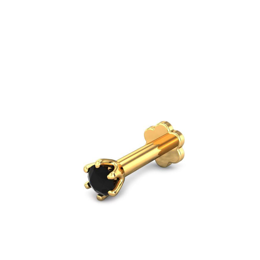 BLACK STONE NOSE PIN