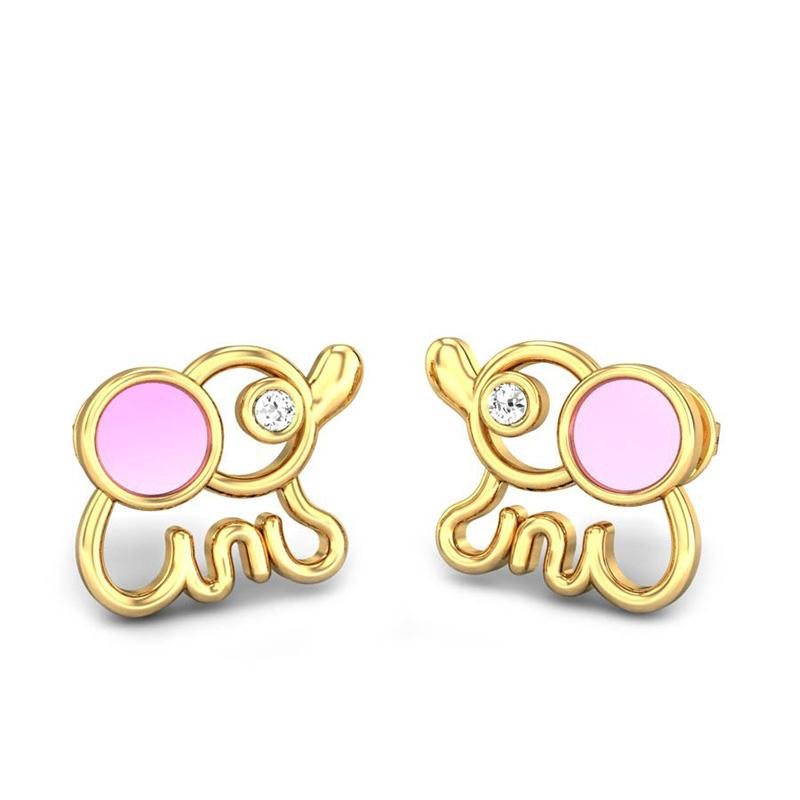 GOLD EARRINGS FOR KIDS