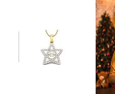 Festive gift gold pendants