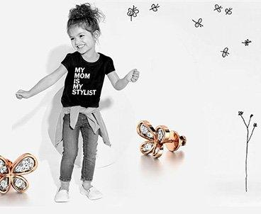For kids gold pendants