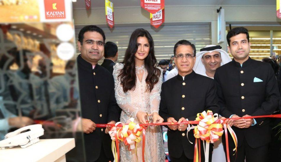 Katrina Kaif opens 3 Kalyan Jewellers showrooms at Gold Souk Deira, Butina and Muweilah in Sharjah