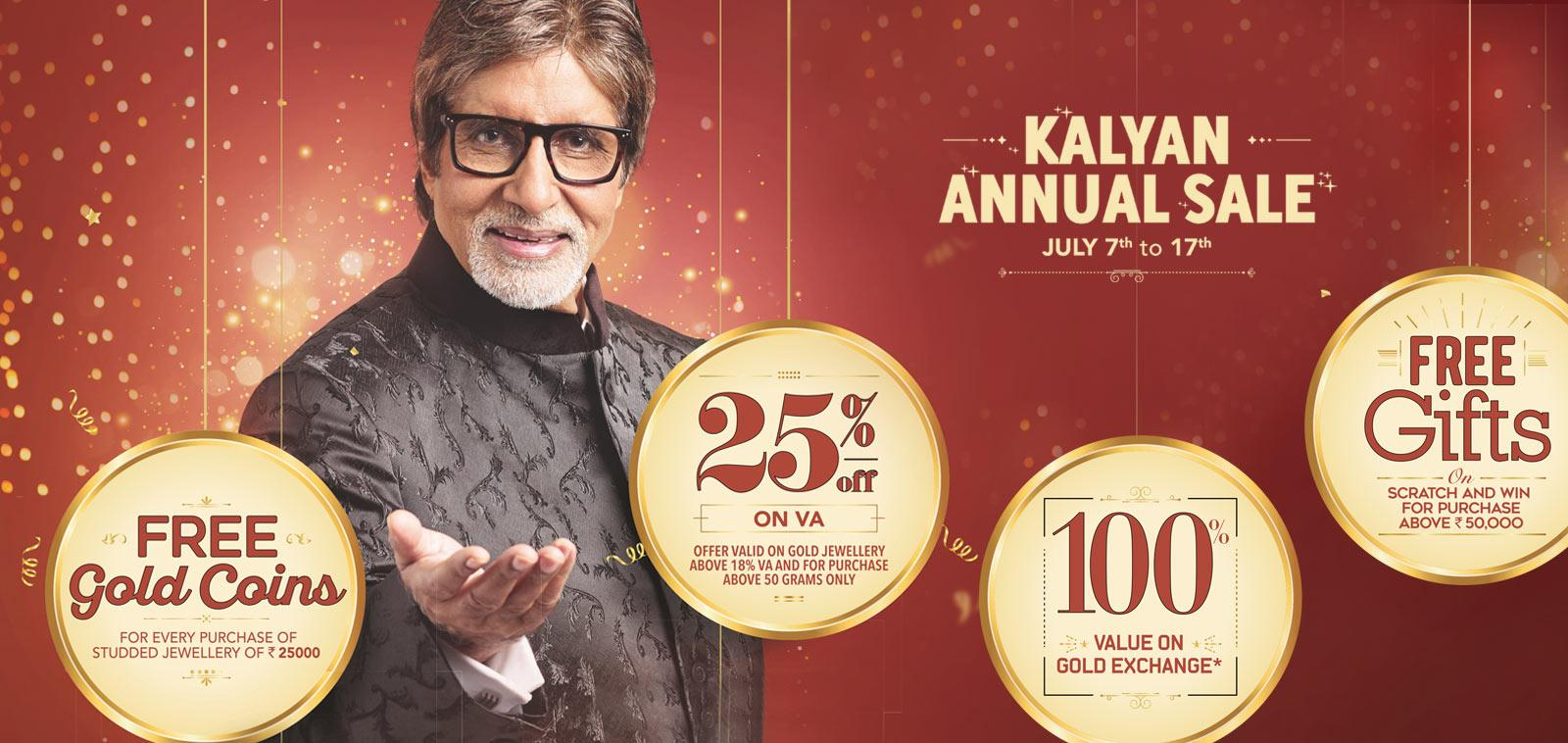 Kalyan Jewellers announces Annual Sale from July 7